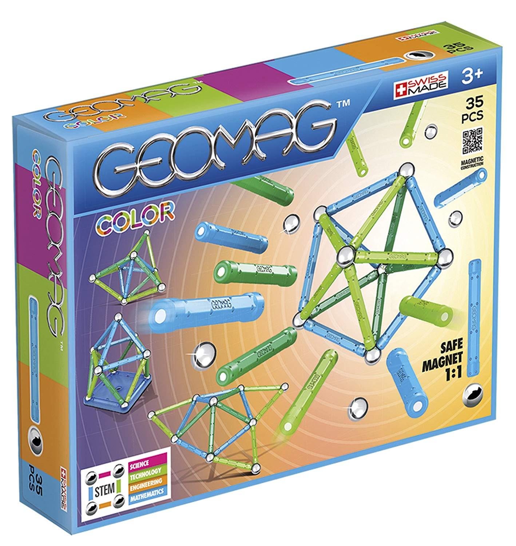 Geomag- Color Gioco di Costruzione con Sfere e Barrette, Multicolore, 35 Pezzi